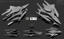 Concept Art HUMAN SHIP model 2015 3 13