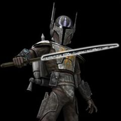 Kad in His Mandalorian during His time as Leader of The Grey Knighta