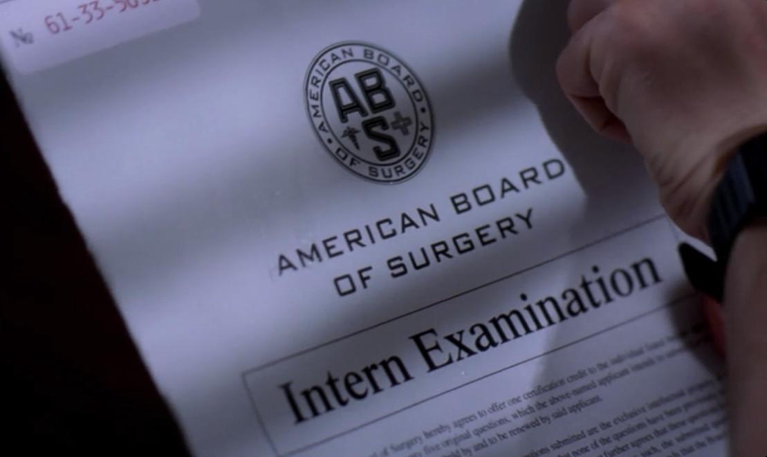 Board Certification Greys Anatomy Universe Wiki Fandom Powered