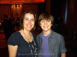 Greyson and his mom