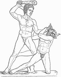 Theseus und Minotauros