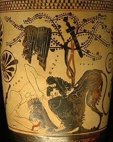 Herkules und Löwe