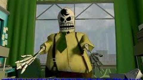 Grim Fandango Manny gets caught by Don Copal