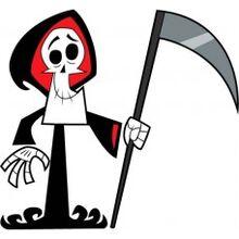 Grim with scythe
