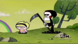 Grim and Mandy are not amused