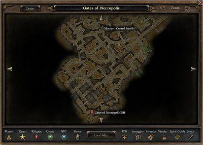 Horrus Location Map