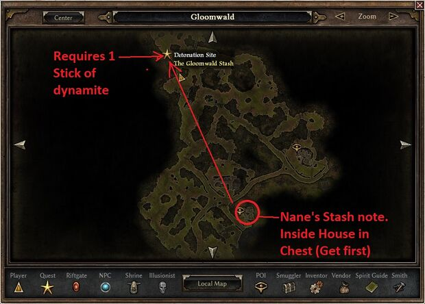 Gloomwald Stash Location