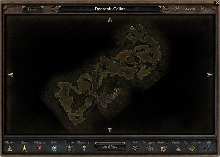 Decrepit Cellar Map