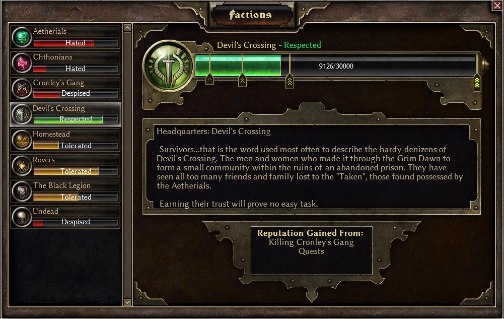 Factions | Grim Dawn Wiki | FANDOM powered by Wikia