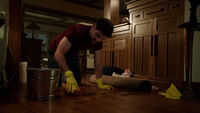 401-Nick scrubs the floor
