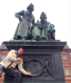 Damien Grimm statue reaction