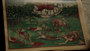 """612-Monroe's family Bible depicting """"hell"""""""