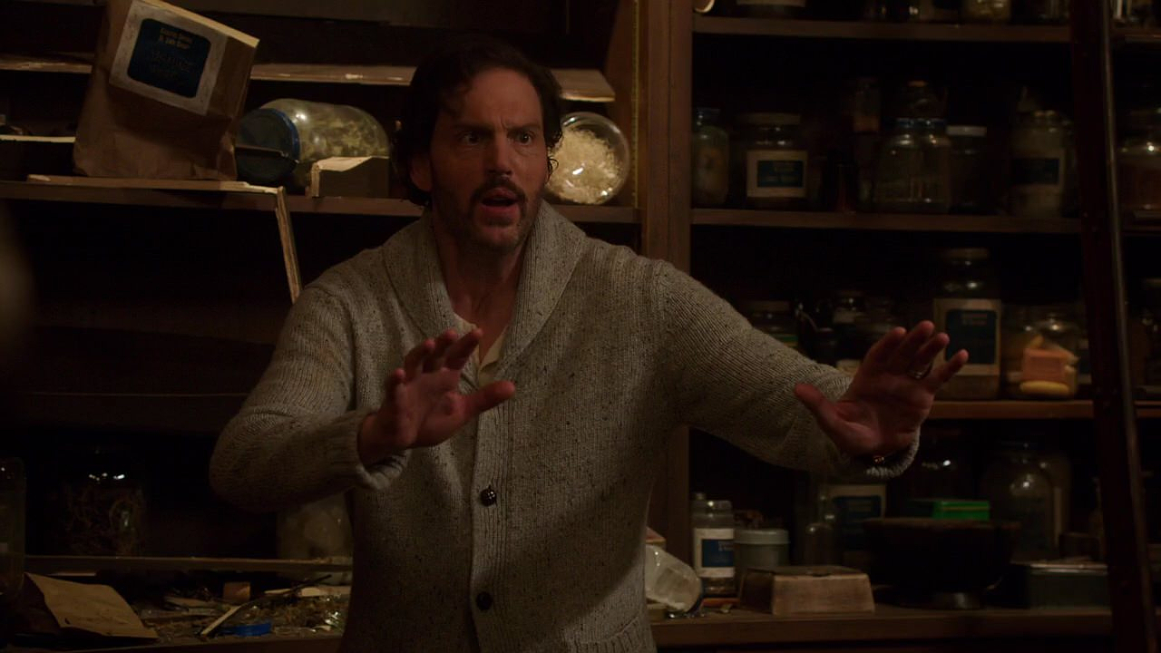 In The Spice Shop Juliette Continues To Force Nick To Point His Gun Atmonroe You Dont Know Jack Just Before The Gun Goes Off Hank Pushesmonroe Out