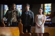 205 - Hank, Nick and Megan at church