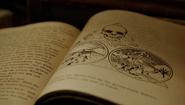 612-Altochdeutsch skull devil drawing