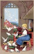 Aschenputtel Fritz Baumgarten Postkarte Jahr unbekannt