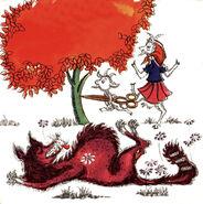 Wolf und die sieben Axel Dehlsen 1970er Litera-Schallplatte