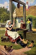 Frau Holle Otto Kubel Postkarte 01
