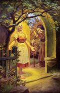 Frau Holle Otto Kubel Postkarte 04