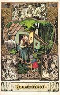 Haensel und Gretel postkarte