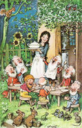Schneewittchen-Fritz-Baumgarten-um-1935-Postkarte