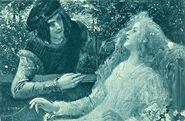 Dornroeschen Eduard Veith Postkarte