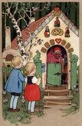 Haensel und Gretel Fritz-Baumgarten Postkarte