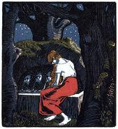 Gaensehitin am brunnen Ignaz Taschner 1901