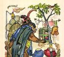 Der Wolf und die sieben jungen Geißlein (Ruth Koser-Michaëls, Reklamepostkarten)