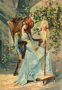 Dornroeschen Postkarte um 1900