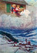 Frau Holle Paul Hey postkarte