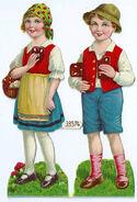 Haensel und Gretel Lackbilder 1