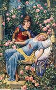Dornroeschen Josef Kraenzle Postkarte