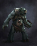 Legend of grimrock tunnel ogre concept