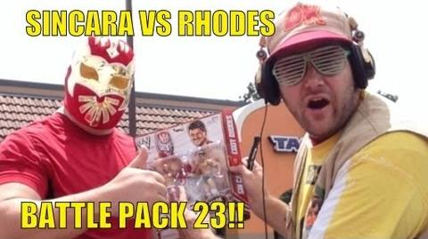 WWE ACTION INSIDER- Sincara vs Cody Rhodes Mattel battle pack series 23 wrestling figures basic toy
