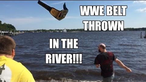 WWE BELT THROWN IN THE RIVER! Grim's CAR STOLEN by MJ APPLEBALLS