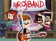A promotional image for Grojband