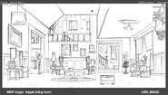 More Concept Art of the Living Room