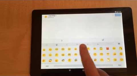 """✅ How to use emoji on HTC 8.9"""" Nexus 9 running Android 5.0 Lollipop"""