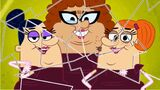 Barney's ugly daughters make the screen break