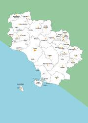 Cartina provincia per musei
