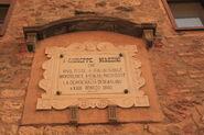 Palazzo Comunale Scarlino lapide Mazzini
