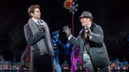 Andy Karl and Andrew Langtree as Phil Connors and Ned Ryerson