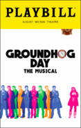 Groundhog Day Broadway playbill