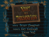 Night of A Thousand Legs