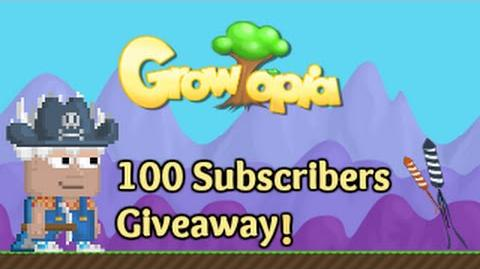 Growtopia 100 Subscribers Giveaway!