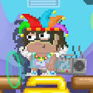 A Player Wearing Party Blaster