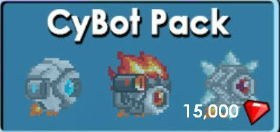 Growtopia Cybot pack
