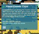 Cosmic Cape