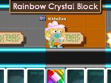 Rainbow Crystal Block